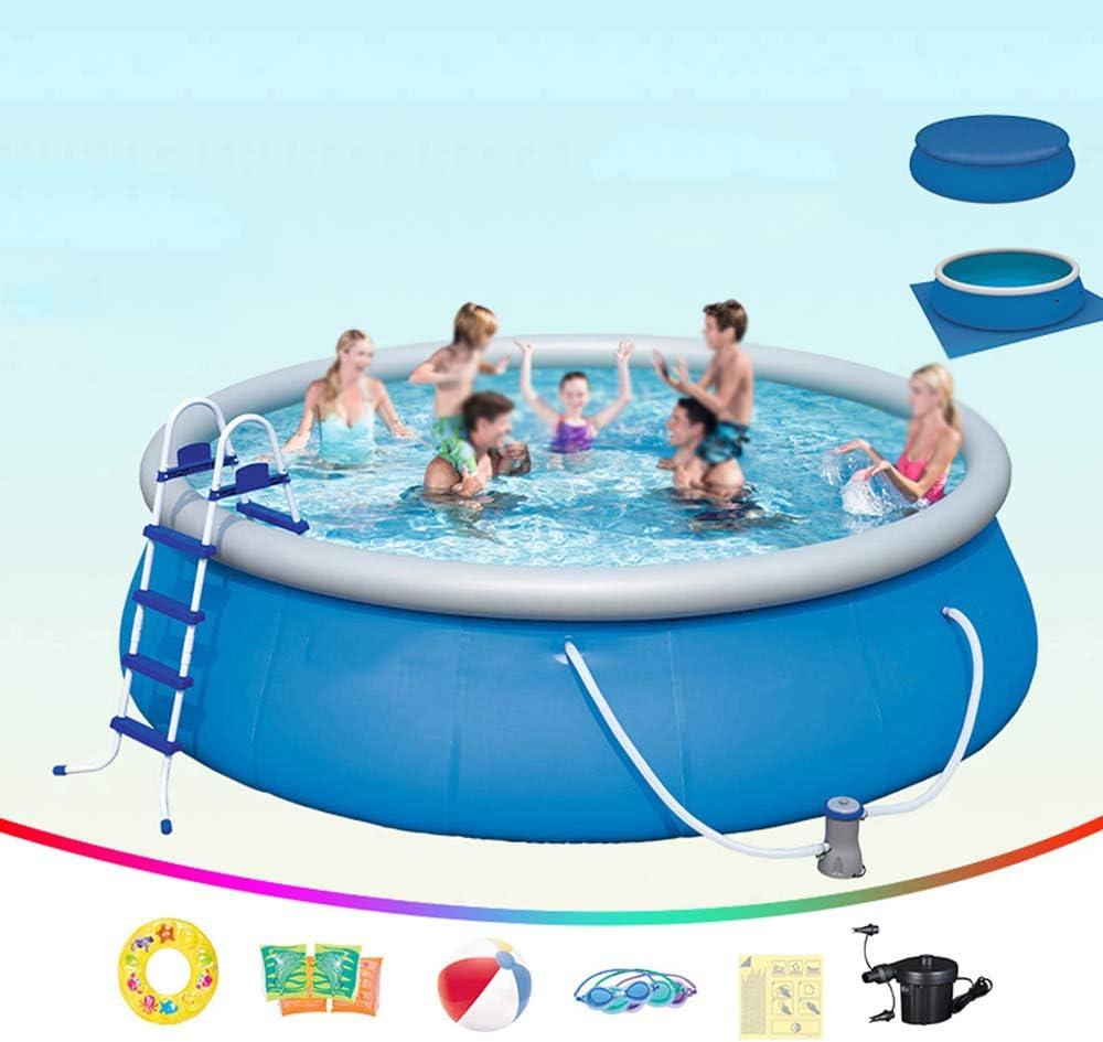 DEAR-JY Piscinas hinchables,457x122cm,Espesada y Protección del Medio Ambiente PVC,Piscinas Familia del Centro de natación,Piscina Redonda Inflable de Gran Capacidad para Interiores y Exteriores
