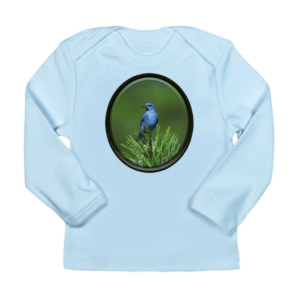 Sky Blue 18 To 24 Months Truly Teague Long Sleeve Infant T-Shirt Blue Bird On an Evergreen