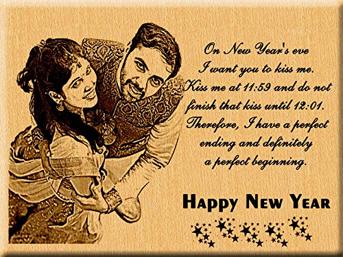 Buy Incredible Gifts India New Year Gift Ideas Engraved Photo Plaque For Wife And Husband 7x5 Inches Wood Brown Online At Low Prices In India Amazon In