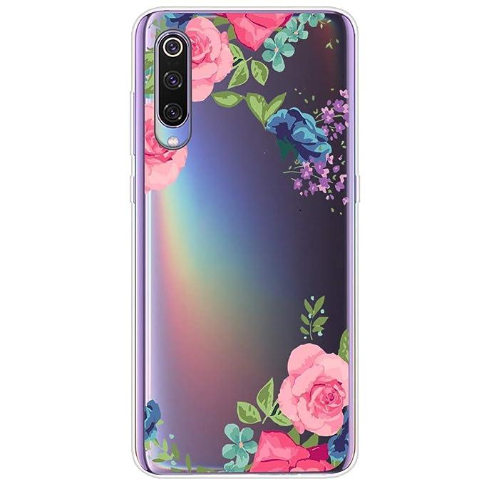 Pacyer Carcasa Compatible con Xiaomi Mi 9, Suave TPU Funda Adorable Panda Case Silicona Transparente Divertido Diseño Cover Caso para Mi 9