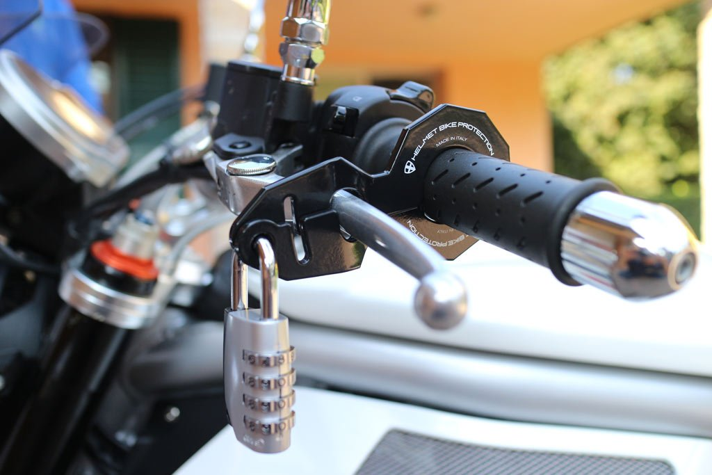 Antifurto moto e casco combinato Standard Bianco con lucchetto Abus