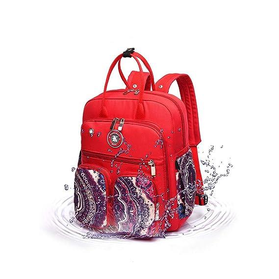 BB Hapeayou - Mochila multifunción impermeable para el cuidado del bebé, gran capacidad, elegante y duradera (rojo): Amazon.es: Bebé