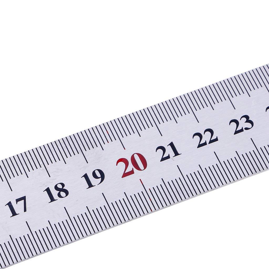 Ogquaton Metal Cuadrado Acero Ingeniero//Carpintero Herramienta de medici/ón de Madera Regla de /ángulo Recto Duradero y /útil
