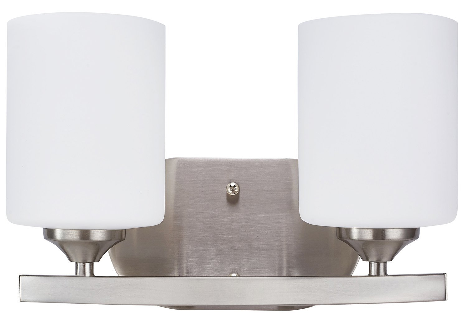 Sunnyfair 2-Light Bathroom Light Fixtures Two Bulb Bath Over Vanity Lights Above Mirror Wall Mount Lighting with Frosted Glass Shade Brushed Nicke, UL Listed