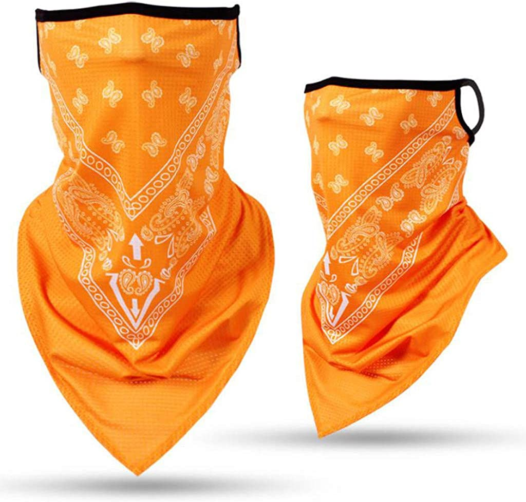 Face Scarf Bandana Ear Loops Face Rave Balaclava Men Women Neck Gaiters for Dust Wind Motorcycle Cover