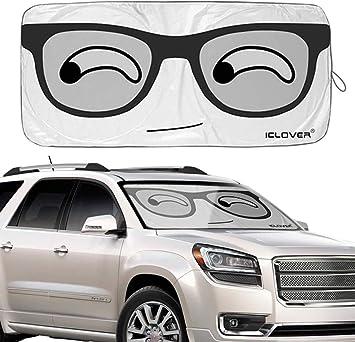 Rosymity Car Windshield Sun Shade Cartoon Lovely Eyes top Sale fine Universal Car Front Window Windshield Visor