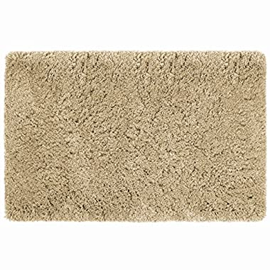Norcho Soft Cushion Water Absorbment Non Slip Antibacterial Rubber Luxury Bath Mat Rug 31 x19  Khaki