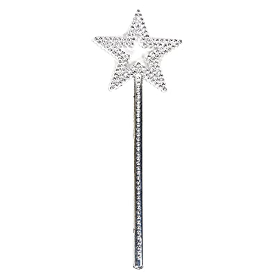 AKOAK Star Wand,13 Inches Silver Fairy Princess Angel Wand: Beauty