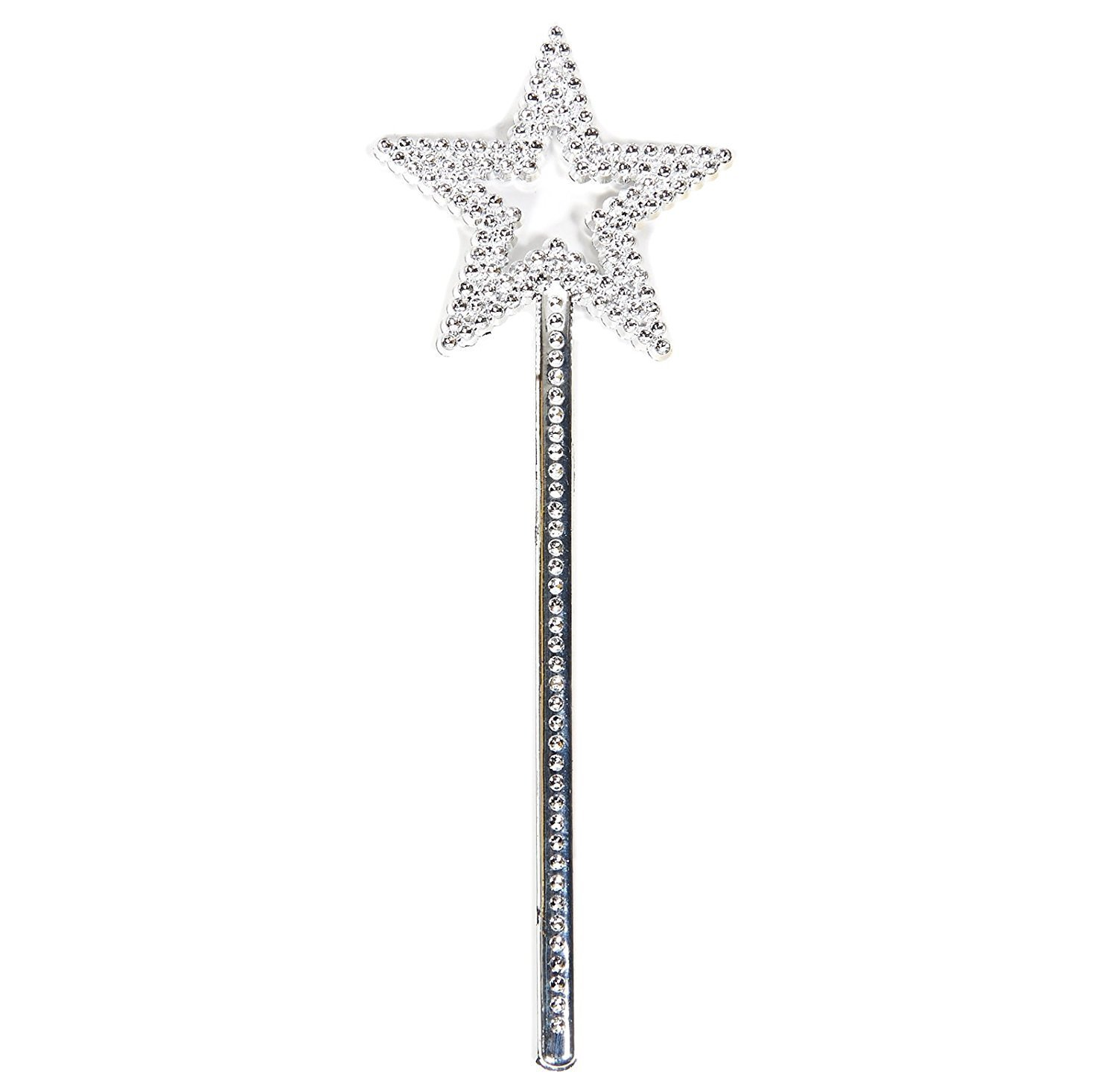 AKOAK Star Wand,13 Inches Silver Fairy Princess Angel Wand