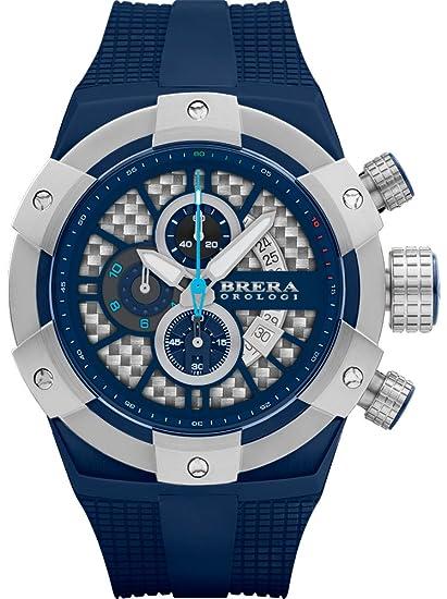 Brera Orologi hombre supersportivo azul, acero y azul 48 MM: Brera Orologi: Amazon.es: Relojes