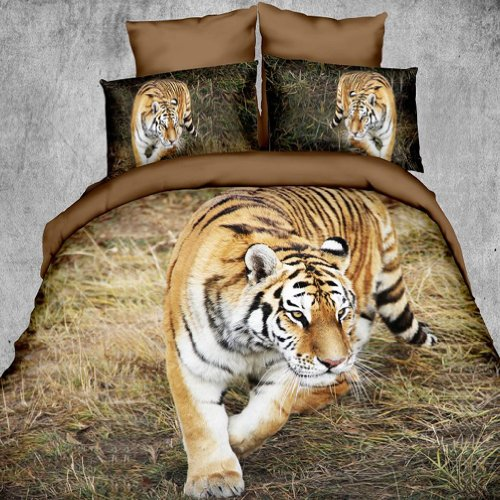 tiger print bedding set
