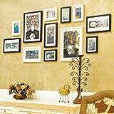 ZYANZ Irregular Wood Free Combination Photo Frame, Rectangular (12 Packs), Simple And Stylish Photo Wall