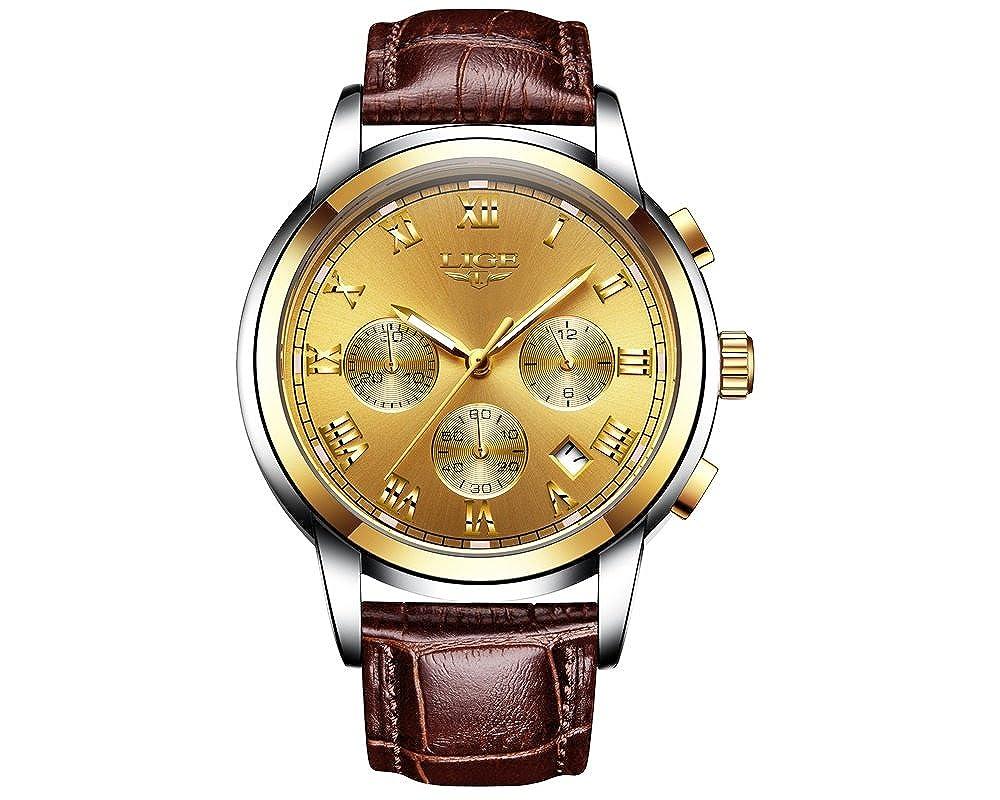 Amazon.com: Relojes de Hombre Reloj Men Cronografo De Cuarzo ...