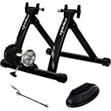 unisky Bike Trainer Stand Indoor Exercise Magnetic Bicycle Training Stand Stationery Cycling Trainer for Mountain & Road…
