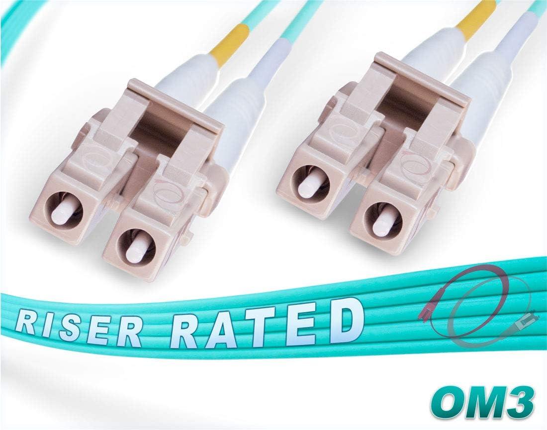 115 Meter OM3 LC-LC 10Gb 50//125 Multimode Duplex Fiber Optic Cable