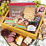 GourmetGiftBaskets.com Holiday Meat and Cheese Gift Basket Crate - Gourmet Food Gift Baskets Prime Delivery - Birthday, Christmas, Sympathy, Men, Women, Families & Corporate