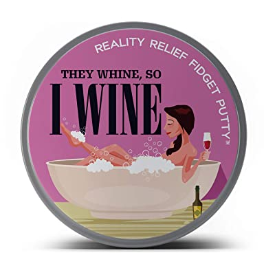 GearsOut They Whine So I Wine Stress Putty - Relaxing Bath Design - Novelty Therapy Putty for Moms and Teachers - Wine red, Fidget Toy: Toys & Games