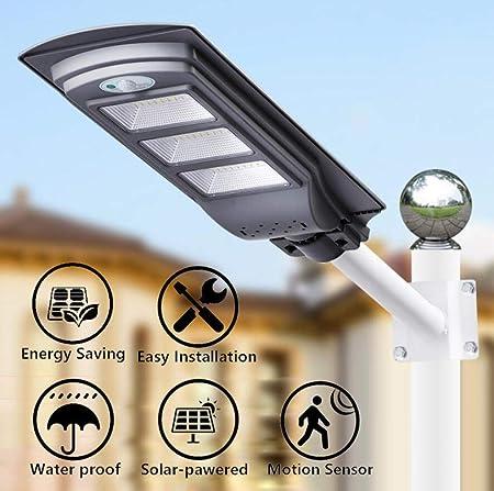 HUI Focos Solares Luces Solares LED Exterior Jardín con Sensor De Movimiento Lámpara Solar Impermeable Inalámbrico Seguridad, Luces Solares para Jardín, Garaje, Camino, Patio IP65,90W: Amazon.es: Hogar