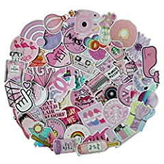Cute Pink Teen Girl Decal Stickers for Laptop and Water Bottles,Waterproof Durable Trendy Vinyl Laptop Decal Stickers Pack for Teens, Water Bottles, Computer, Travel Case (Pink Lady) Quantity: 50pcs/Pack no-duplicate stickers Material: Sun Pr...