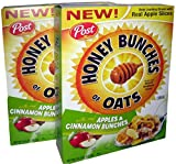 Post Honey Bunches of Oats with Real Apples and Cinnamon Bunches 14.5 Ounce (Pack of 2)
