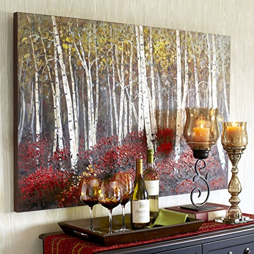 (UAC WALL ARTS Texture Red Forest Oil Painting 3D Abstract Wall Art Wall Decoration On Canvas Decorations 39