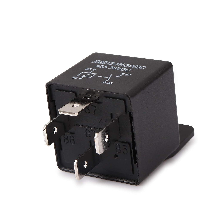 Mod/èle No .: JD2912-1H-12VDC 40A 14VDC Auto Commutateurs et d/émarreurs Relais Ehdis/® voiture 4-Pin 40 Amp/ères Spst 12v 2 Pack