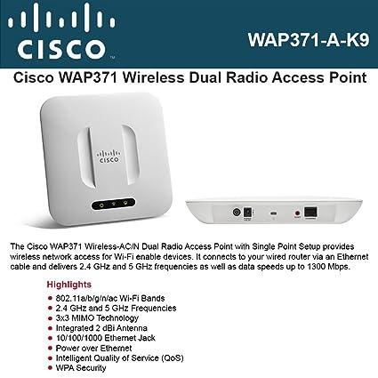 Amazon com: Cisco WAP371 Wireless-AC/N Access Point