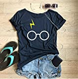 Harry Potter . Glasses With Thunder Bolt. Unisex Fit. Made To Order. Disney Inspired Shirt. Equivalent to Unisex fit. Disney Trip T Shirt. Wide Neck. Relaxed Fit. DO NOT SIZE UP.