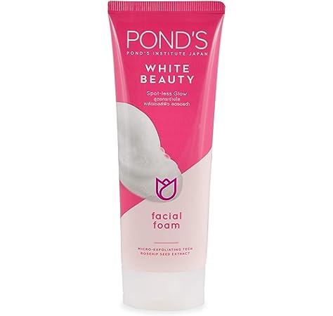 Ponds Belleza Blanco de POND Espuma Facial lavado de cara del aligeramiento de la piel del acné Tratamiento Limpiador 50g: Amazon.es: Belleza