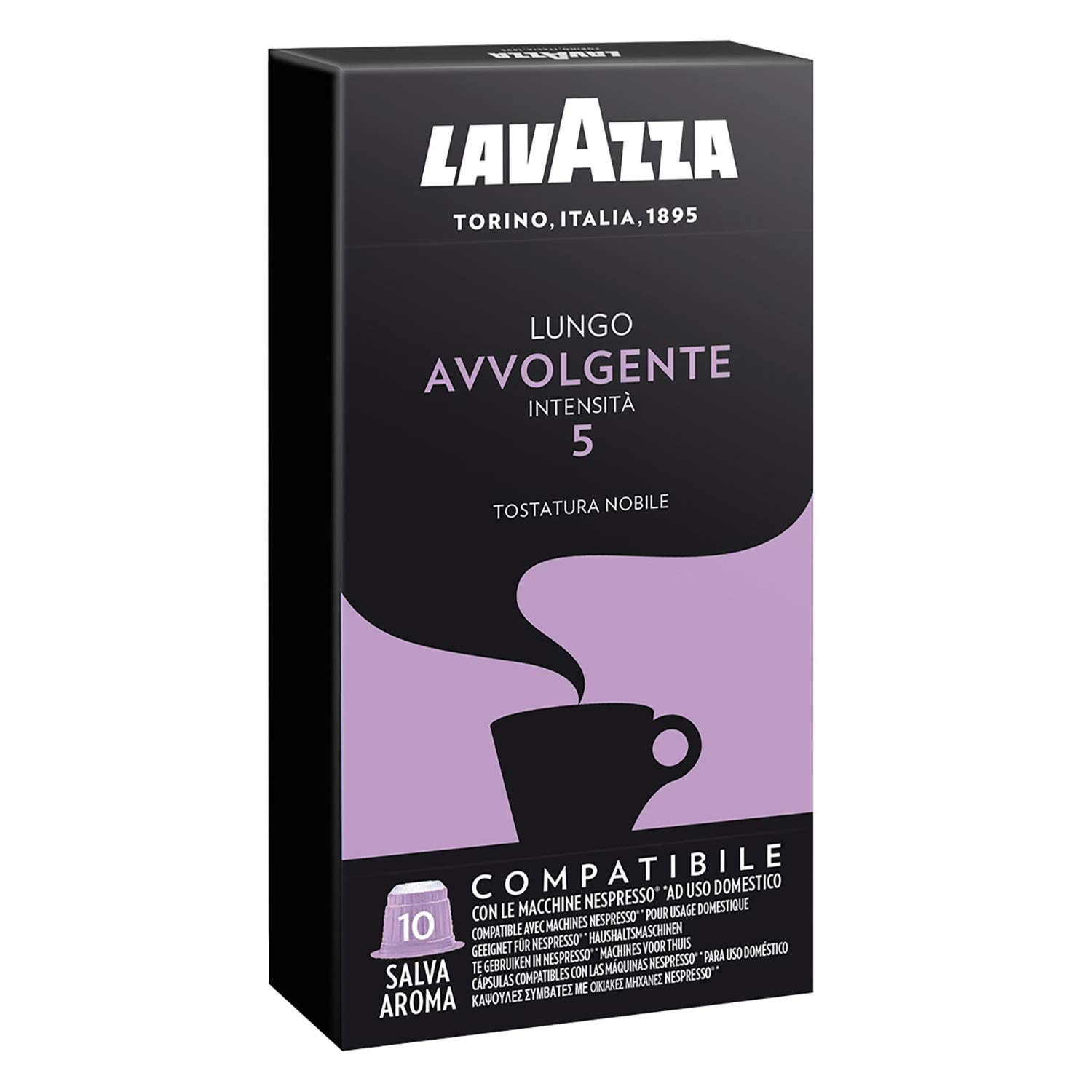 Lavazza Espresso Capsules Compatible With Nespresso - Lungo Avvolgente Flavor - Choose Quantity (2 Pack (20 Capsules)): Amazon.com: Grocery & Gourmet Food