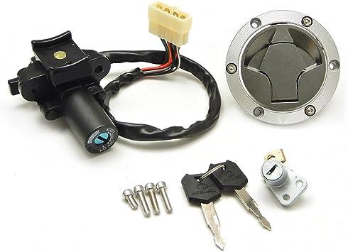 kemimoto Ignition Switch Fuel Gas Cap Seat Lock for Kawasaki Ninja 300 2014-2017 Ninja 250 2008-2012