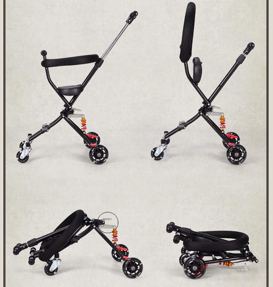 B/éb/é GUO@ Tricycle Simple Pliant Portatif De De Poussette /à 4 Roues Se Pliant 1-3 Ans De Pr/éVention De Renversement