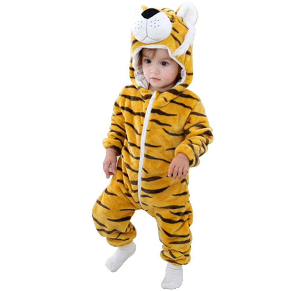 ARAUS-Ensembles de Pyjama Unisex Animale Ensemble de Pyjama Combinaison de Nuit Vêtement pour Bébé Fille Garçon Cartoon Cosplay Costumes