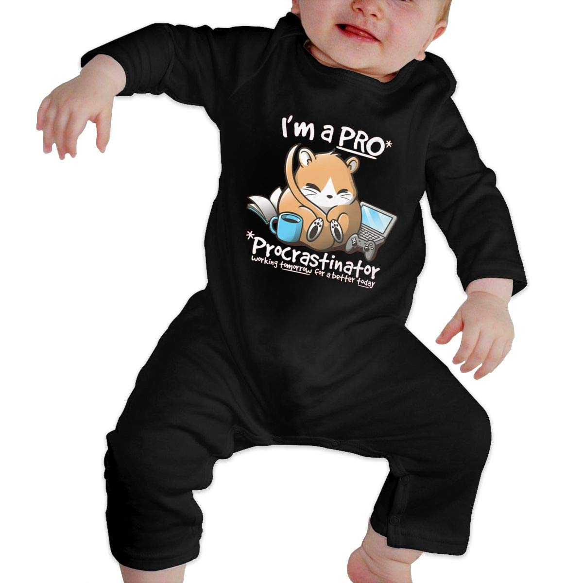 Dormouse is A PRO Newborn Baby Boy Girl Romper Jumpsuit Long Sleeve Bodysuit Overalls Outfits Clothes