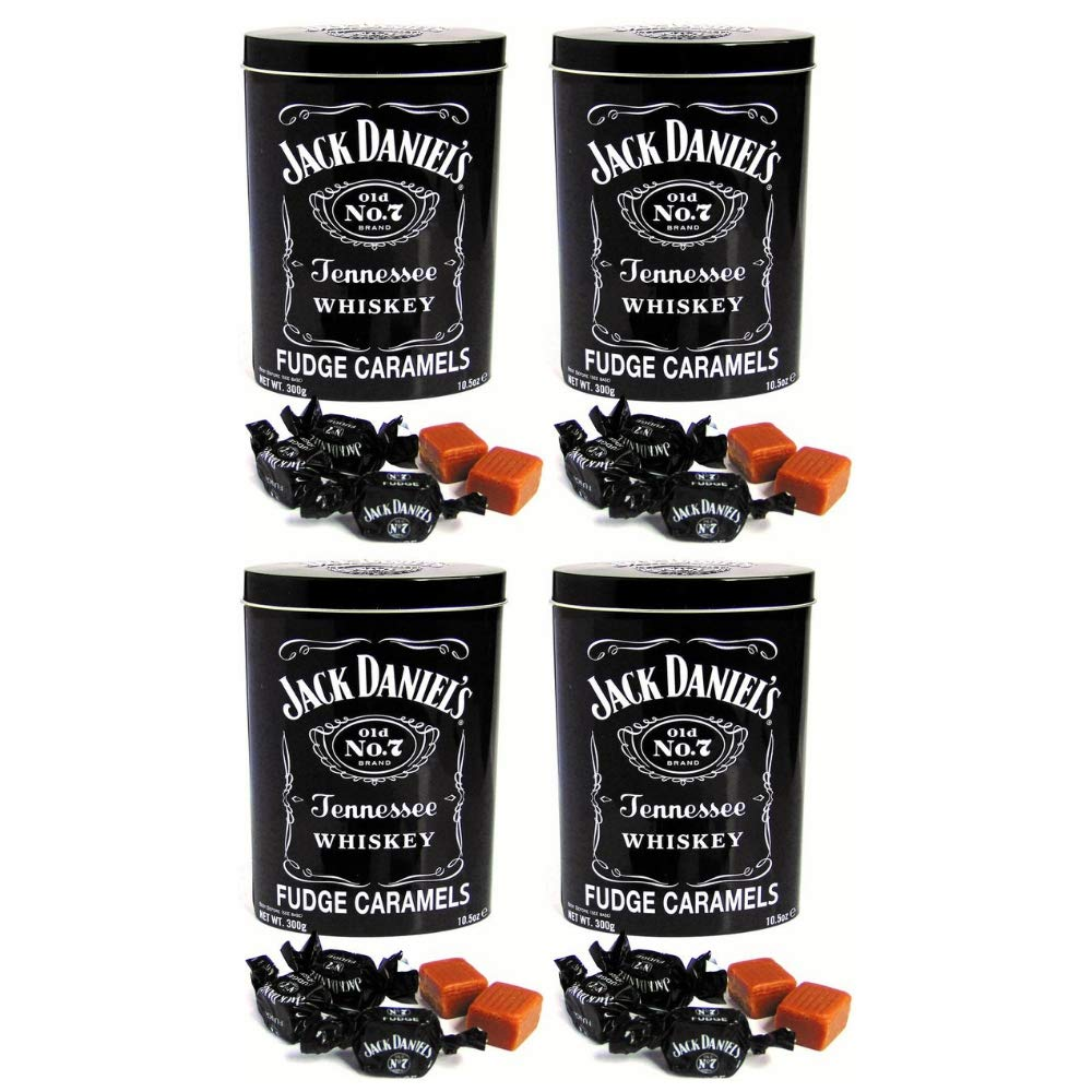 Gardiners of Scotland, Jack Daniel's Tennessee Whiskey Fudge Tin, 10.5 Ounce (4 pack)