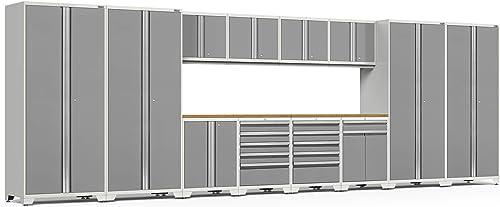 NewAge Products Pro Series Platinum 14 Piece Set, Garage Cabinets, 52451