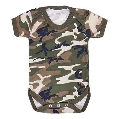 17fab6177 Kids   Babies Military Army Camo Unisex Baby grow Vest Bodysuit 0-24 ...