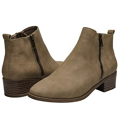 5fdd2e1da4d Ankle Boots for Women - Short Boots for Ladies w/Low Chunky Block Stacked  Heels Round Toe, Slip on Ankle Boots.