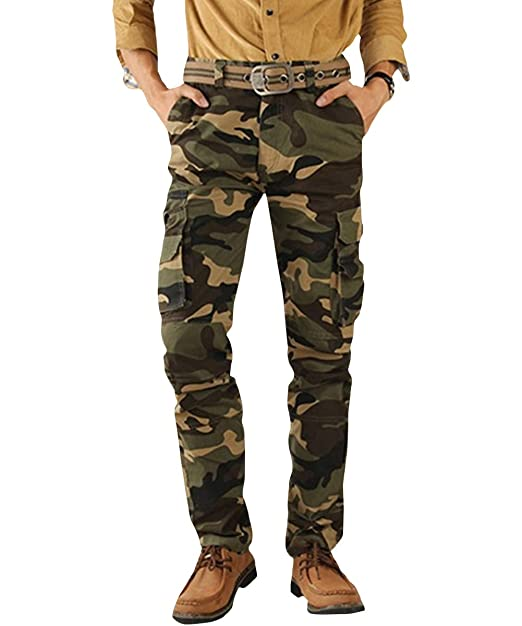 best supplier great discount for fashion design AOWOFS Mens Cargo Cotton Pants Camouflage Military Work Causal Jogger Pants