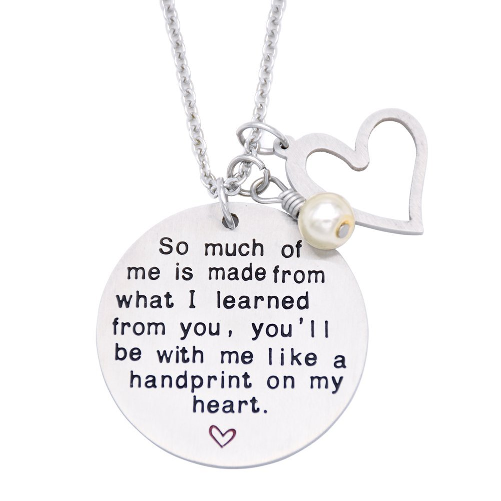 O.RIYA Graduation Gift, Teacher Necklace,Christmas Gifts for Teacher, Gift from Student, Teacher Gift, Personalized Teacher Jewelry