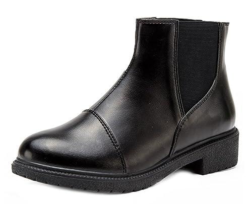 Easemax Femme Classique Low Boots Petit Talon Bottines  Amazon.fr ... 1c5f921203da