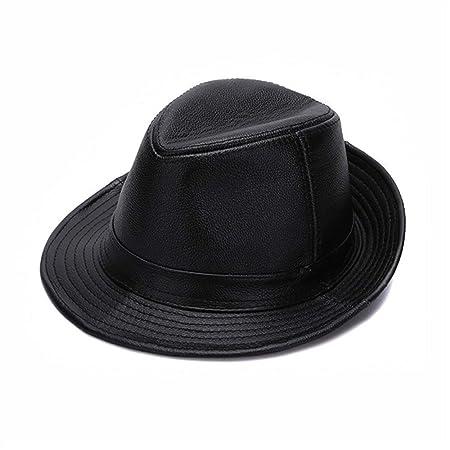 Sombrero de copa Sombrero de cuero for hombres Edad media y ...