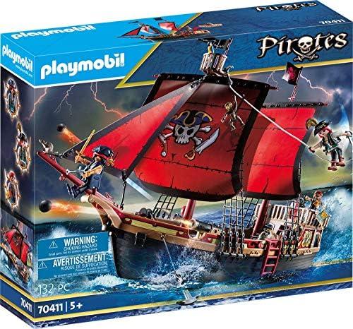 PLAYMOBIL 70411 Pirates - Barco Pirata Calavera, a partir de 5 Años: Amazon.es: Juguetes y juegos