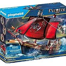 PLAYMOBIL Pirates - Barco Pirata Calavera, a partir de 5 Años, 70411