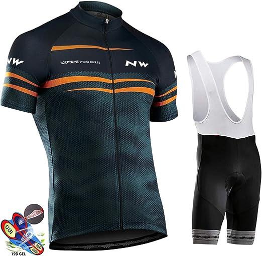 FJLR Conjunto Ropa Equipacion Traje Ciclismo Hombre Mujer para ...