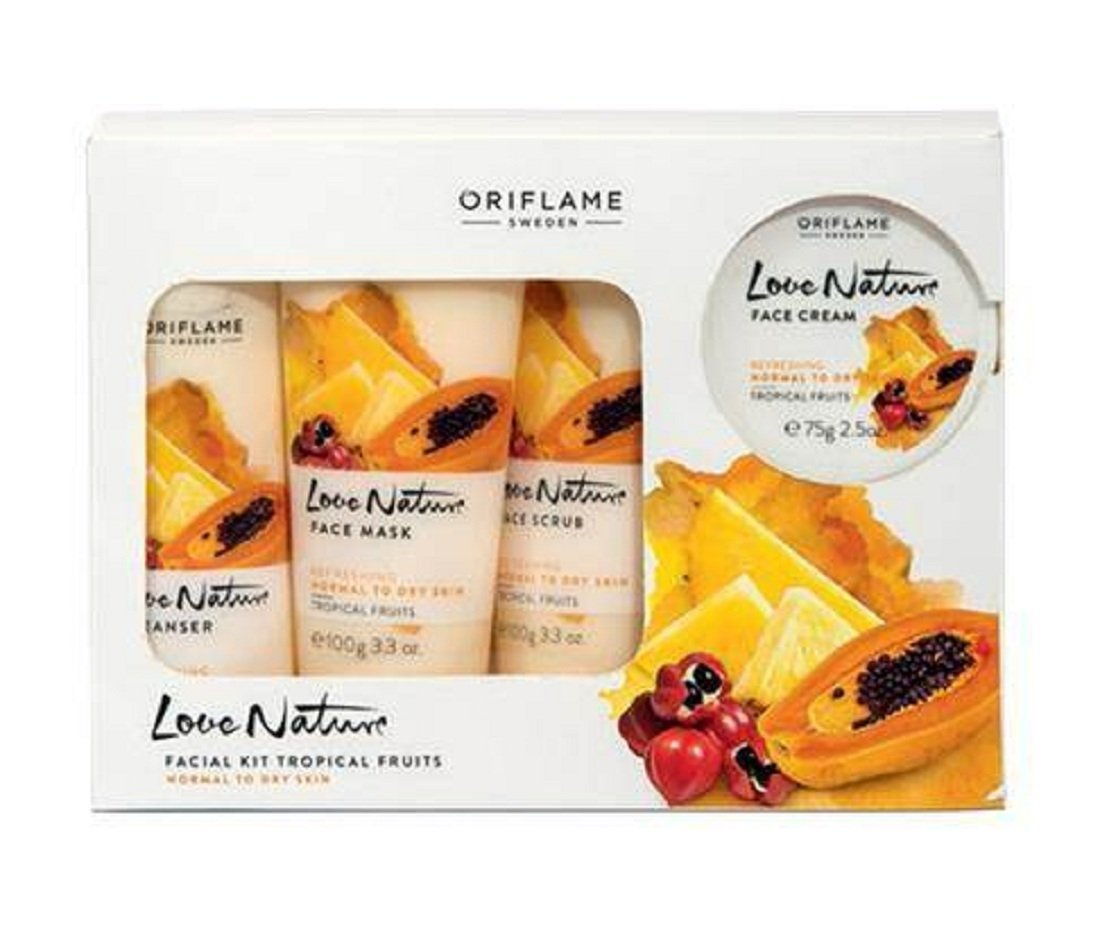 Oriflame Love Nature Facial Kit Tropical fruits Oriflame India Pvt Ltd