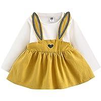 K-youth Vestidos Niña Invierno Cortos, Mono Bebé Niña Lindo Otoño Conejo Vendaje Traje Mini Tutú Princesa Vestido Ropa…