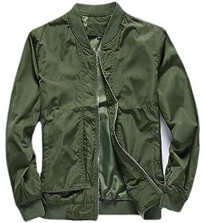 Etecredpow Men Baseball Coat Autumn Sport Zipper Jacket Stand Collar Sweatshirt