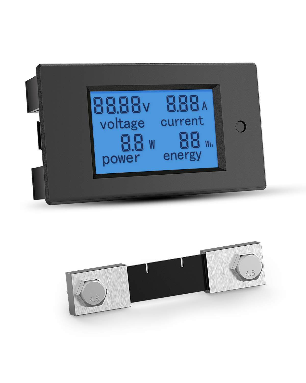 ALLPOWERS Battery Voltage Tester Monitor Digital Multimeter AC 80-260V 100A Voltage Amperage Power Energy Meter AC Volt Amp Tester Voltmeter Ammeter Watt Meter