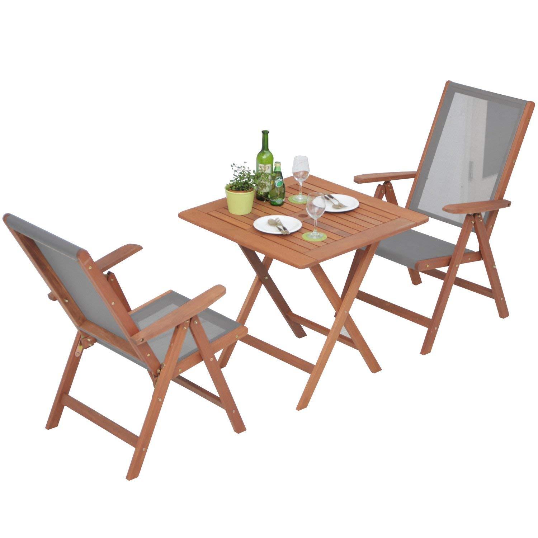 山善(YAMAZEN) ガーデンマスター フォールディングテーブル&チェア(3点セット) グレー MFT-88192/FT-259DN(GY) B004W5IUBA